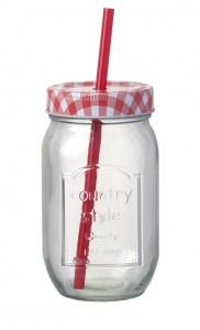 Drink Jar with Straw