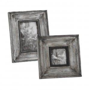Washed Grey Photo Frames