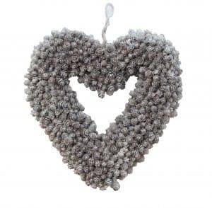 Heart Shaped Fir Cone Wreath