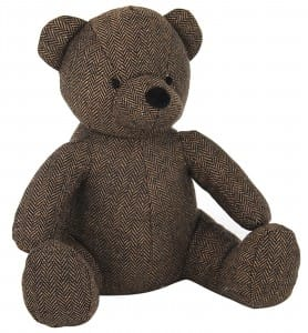 Dark Brown Teddy Doorstop
