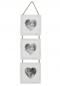 White Shabby Chic Heart Multi Picture Photo Frame