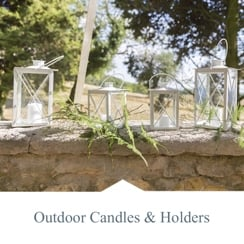 Outdoor Candles & Holders