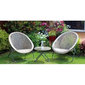 Win a gorgeous faux rattan chair & table set worth £195!