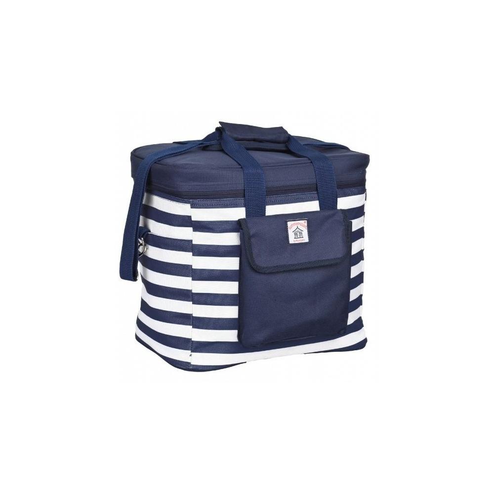 Navigate Coastal Breton Stripe Cool Bag - Navy Blue And White ...