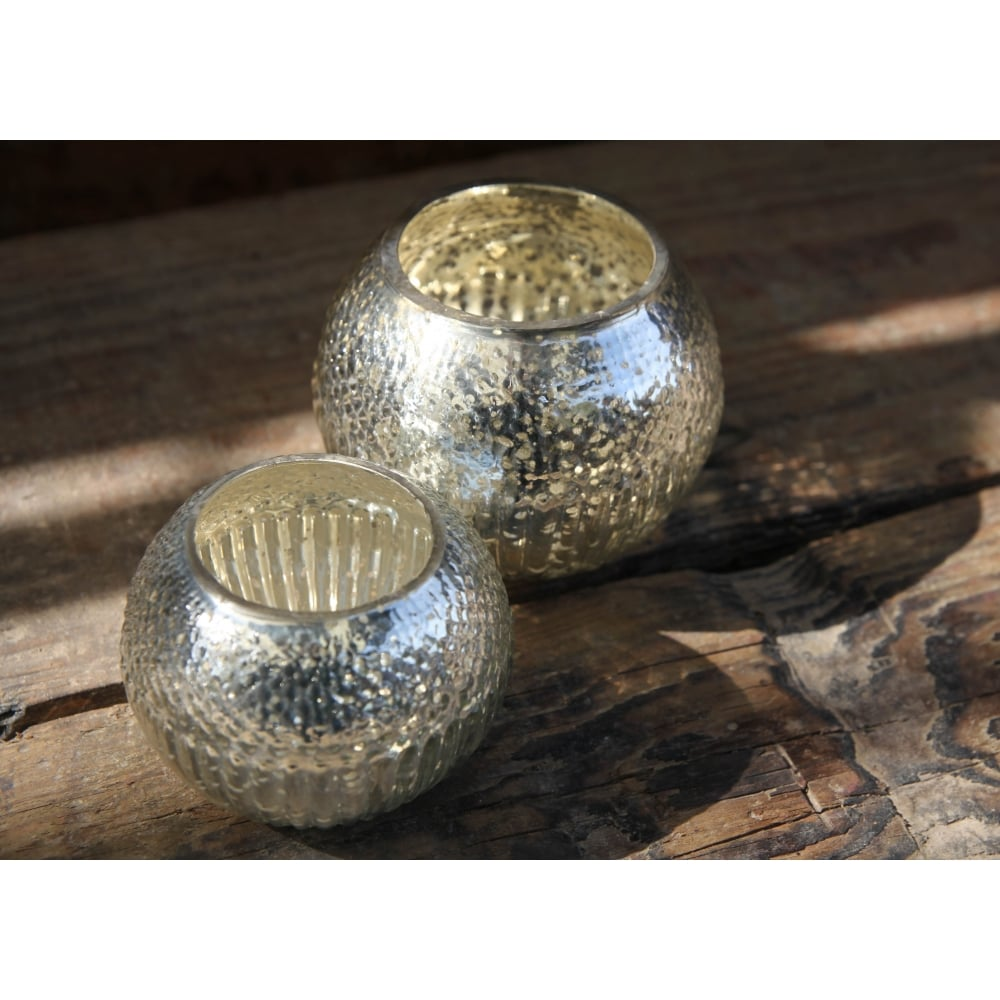 Sparkling Silver Silvers: Sparkling Rustic Silver Tea Light Holder