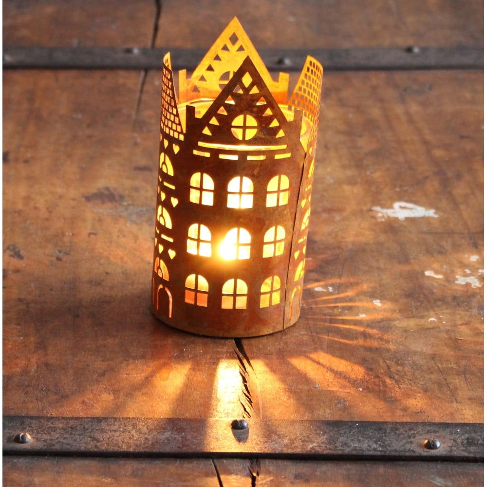 Buy Industrial Chic Style Building Design T-Light Holder