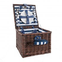 Wicker Picnic Hamper - 2 or 4 Person - Coastal Breton Stripe by Navigate