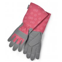 Burgon & Ball Sophie Conran Ladies Gardening Gauntlet Gloves - Raspberry Red
