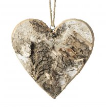 Birch Wood Heart Decoration