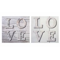LOVE Wall Art Canvas - Set of 2