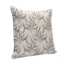 Taupe Leaf Print Square Cushion 43cm x 43cm