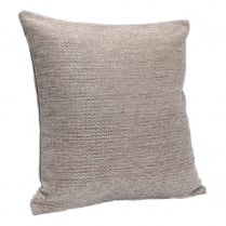 Metallic Silver Chenille Waves Square Cushion 43cm x 43cm