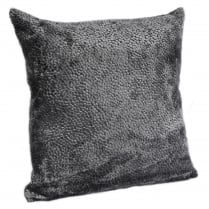 Dark Grey Burnt Velvet Square Cushion 43cm x 43cm