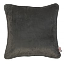 Velvet Square Cushion Charcoal Grey 45cm x 45cm
