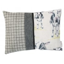 Grey Cow Design Rectangular Boudoir Cushion 40cm x 30cm