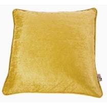 Velvet Square Cushion Mustard 45cm x 45cm