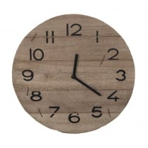 Natural Driftwood Round Wall Hanging Clock