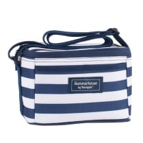 Coast Personal Cool Bag by Navigate - Navy Blue & White Stripe