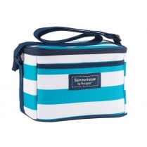 Coast Personal Cool Bag by Navigate - Aqua Blue & White Stripe