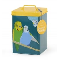 "Burgon & Ball ""Gregory and the Pecks"" Budgie Bird Storage Tin"
