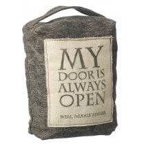 Doorstop - 'Quotes' - Dark Grey