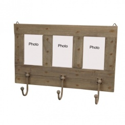 Vintage Style Photo Frame Coat Rack