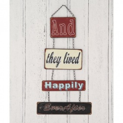 And They Lived Happily Ever After Retro Style Metal Wall Art Sign