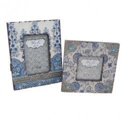 Blue & Cream Shabby Chic Photo Frames - Square or Rectangular