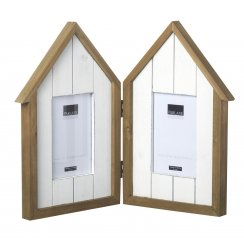 Beach Hut Picture Frame - for 2 Photos