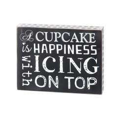 Cupcake Happiness Wall Art Sign