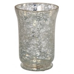 Hurricane Lamp Candle Holder - Mirror Crackle Effect