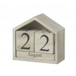 Natural & White Shabby Chic Calendar House
