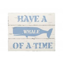Blue & Cream Whale of a Time Wall Art Sign