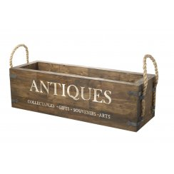 Antiques Wooden Storage Crate with Rope Handles