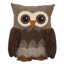 Brown Owl Doorstop - Fabric Covered and Weighted