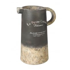 La Petite Cuisine Ceramic Jug - Dark Grey & Natural Stone