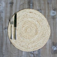 Natural Maize Round Placemat (35cm)