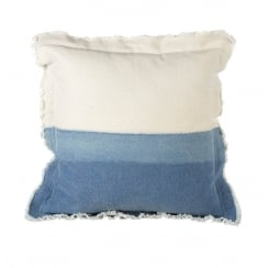 Coastal Two Tone Square Cushion  (40cm x 40cm) - Blue