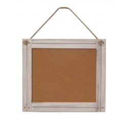 Whitewash Driftwood Framed Cork Memo Board