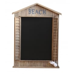 Beach Hut Chalkboard - Wooden Blackboard