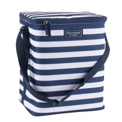 Coast Family Cool Bag by Navigate - Navy Blue & White Stripe