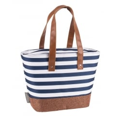 Coast Cool Bag Shoulder Bag by Navigate - Navy Blue & White Stripe