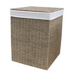Seagrass Square Laundry Basket Lined