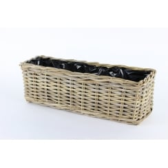 Rattan Window Box Wicker Planter Large